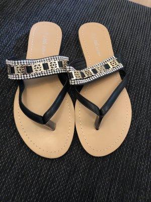 Flip Flop Sandalen mit Glitzer