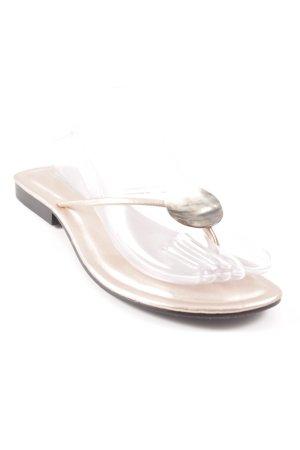 Flip Flop Sandalen roségoldfarben Glanz-Optik