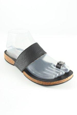 Flip Flop Sandalen schwarz Casual-Look