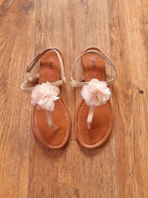 Flip Flop Sandalen Zehentrenner rosa nude beige Gr. 36,5