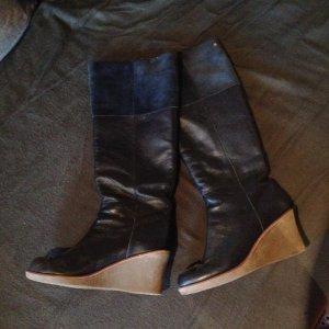 Flip Flop Stiefel Leder/Wildleder Mix