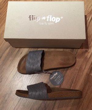 Flip * Flop toe fu Echtleder Pantoletten Gr. 37 mit Fußbett