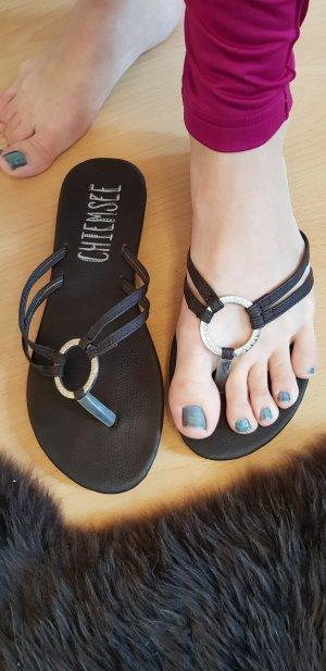 Chiemsee Sandalo infradito argento-marrone-nero