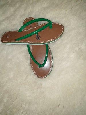 Armani Jeans Flip-Flop Sandals cognac-coloured-green