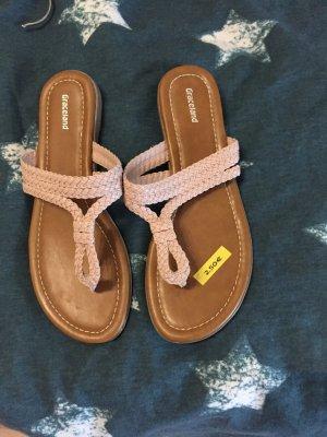 Graceland High-Heeled Toe-Post Sandals pink
