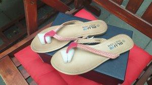 Flip-Flop Sandals multicolored imitation leather