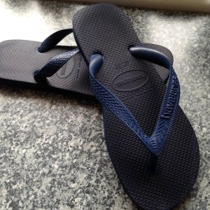 High-Heeled Toe-Post Sandals blue synthetic material