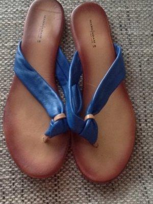 Flip Flops Leder blau Mark Adam 41