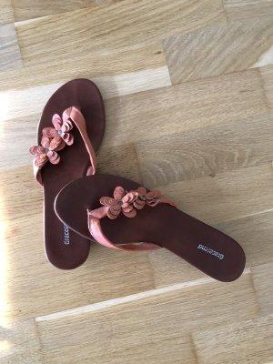Graceland High-Heeled Toe-Post Sandals apricot