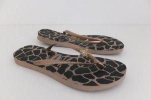 Flip Flops mit Giraffenprint und Glitzerdetail (Sonderedition)