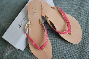 Flip Flops / Sandalen pink gold Gr.37