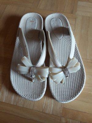 Sandalo infradito bianco-argento