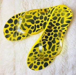 Sandalo infradito giallo-nero
