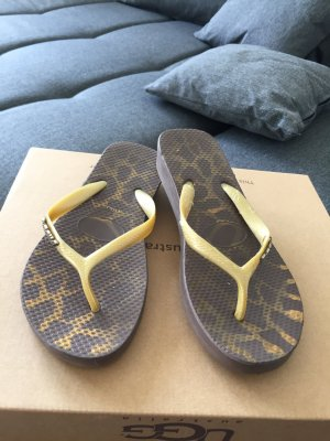 Comfort Sandals grey brown-gold-colored