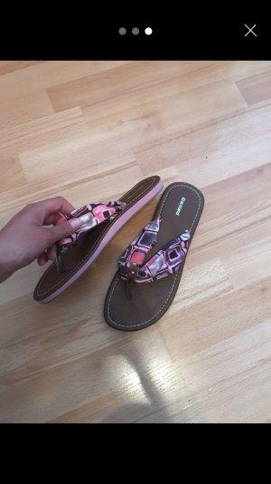 Graceland High-Heeled Toe-Post Sandals multicolored