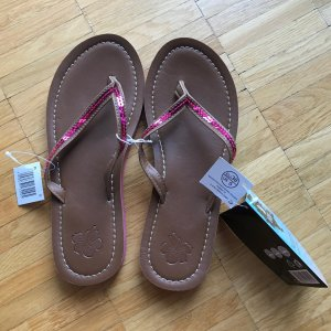 Esmara Flip-Flop Sandals light brown-raspberry-red