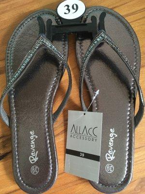 Sandalo toe-post antracite