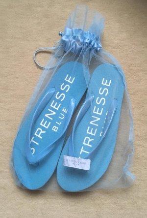 Blue Strenesse Flip flop sandalen korenblauw