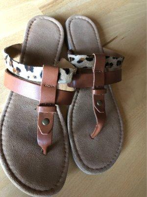 Tamaris High-Heeled Toe-Post Sandals multicolored