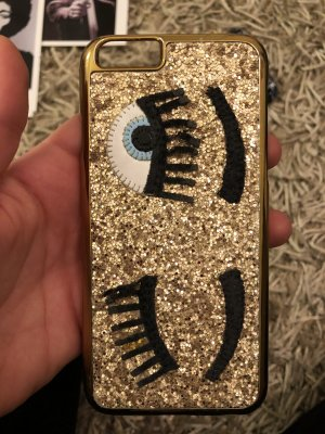 """Flirting gold case IPhone"" Chiara Ferragni"