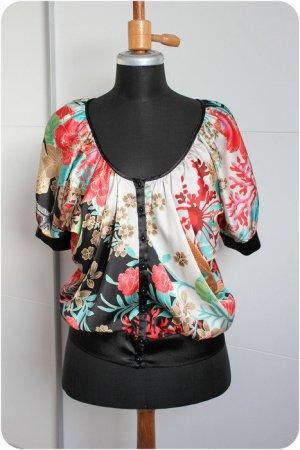 Floral Design, Kimono Bluse von Zara Gr. M