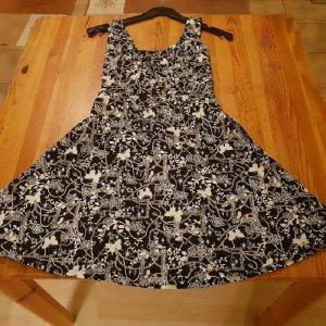 Babydoll-jurk zwart-wit