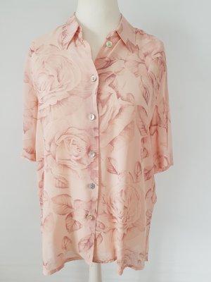 Florale Bluse in Rosé