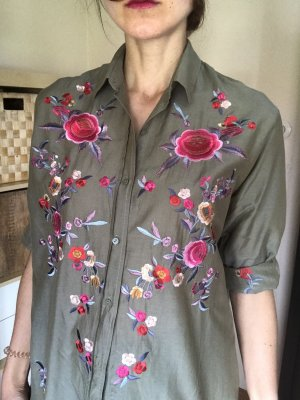 Florale Bluse oversized