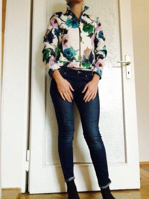 Florale Jacke Zara Biker Schnitt