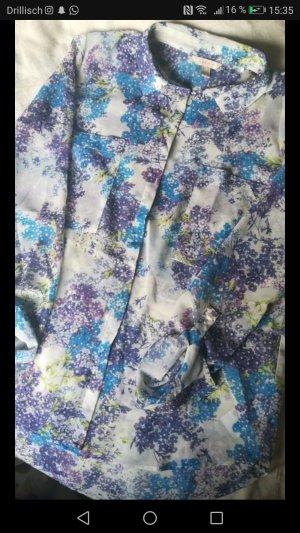 Florale Mesh Bluse