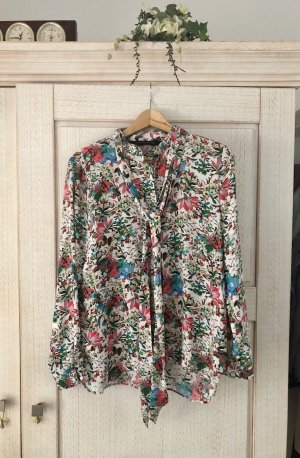 Zara Tie-neck Blouse multicolored