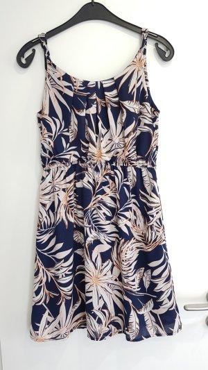 Florale Sommerkleid 》Marineblau