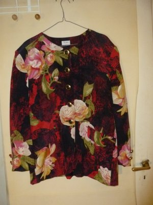 Florale Vintagejacke aus echter Seide