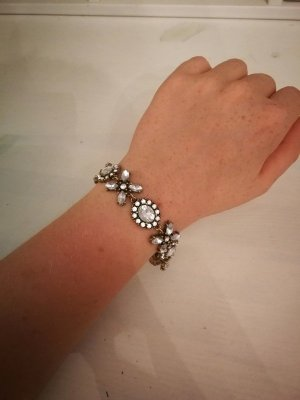 Florales Armband in Kristall-Optik