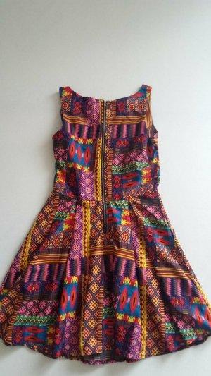 Vestido de tela de sudadera multicolor Poliéster