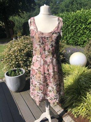 Nile Chiffon jurk stoffig roze