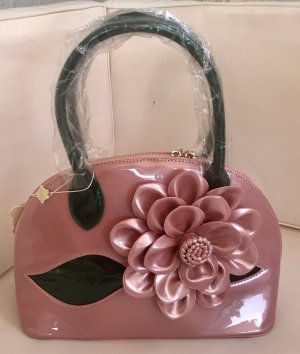 Carry Bag light pink-dark green