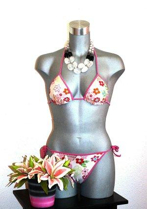 Bikini rosa-crema