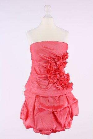 Flower by Charm's trägerloses Minikleid mit Raffungen und aufgestickten Blumen pink Größe L