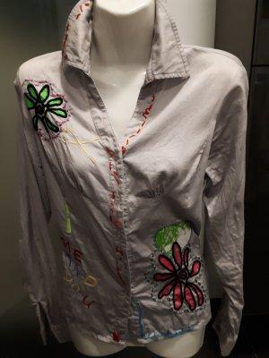 Shirt met lange mouwen veelkleurig Katoen