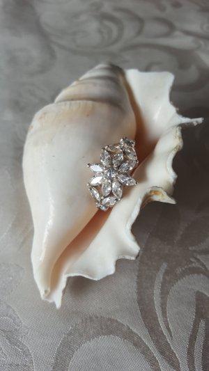 Flower Love Massiver Silberring Gr 18/19 mm
