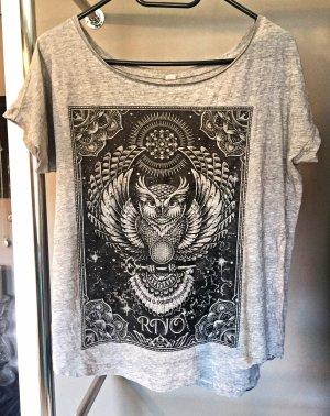Camicia fantasia grigio-nero