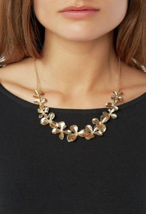 Flower Patch Necklace | Güldene Blumen-Kette