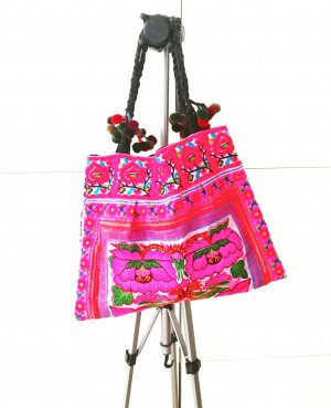 flower power boho tasche