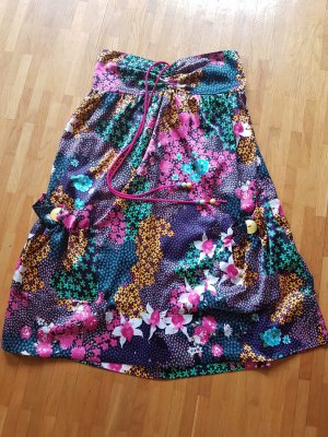 flower summer dress of silk