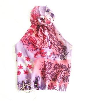 flower top / bluse in purple tönen / vintage / granny / boho / romantic