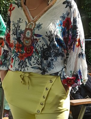 Made in Italy Blouse oversized multicolore