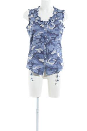 flowers for friends ärmellose Bluse Camouflagemuster extravaganter Stil
