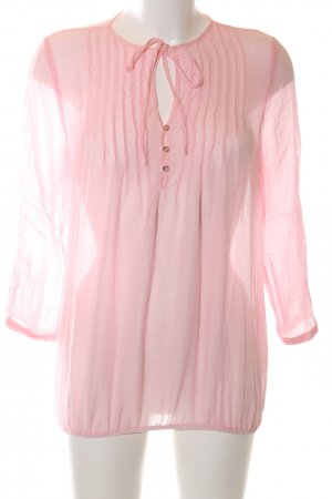 flowers for friends Schlupf-Bluse pink Business-Look