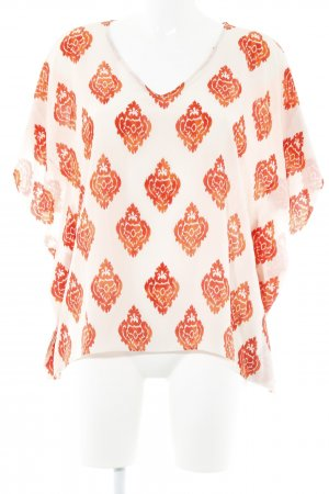 flowers for friends Tuniekblouse rood-wit abstract patroon